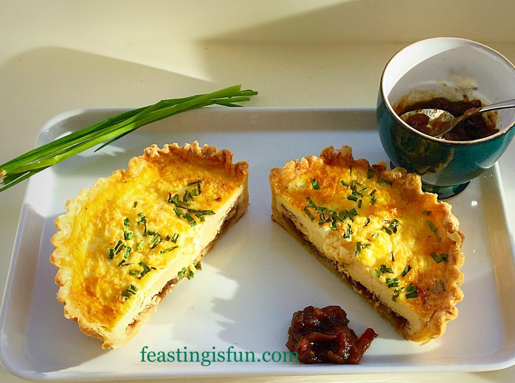 FF Feta Red Onion Marmalade Quiche.