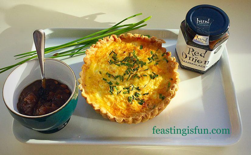 Feta Red Onion Marmalade Quiche