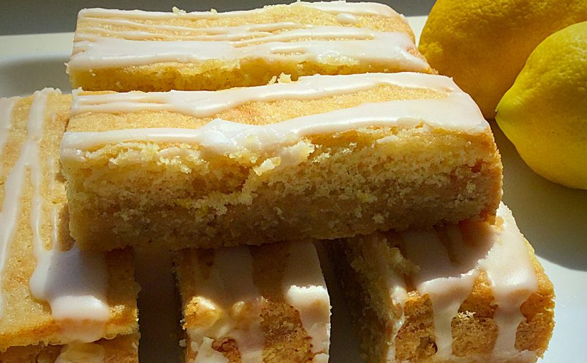 Lemon Drizzle Cake Bars