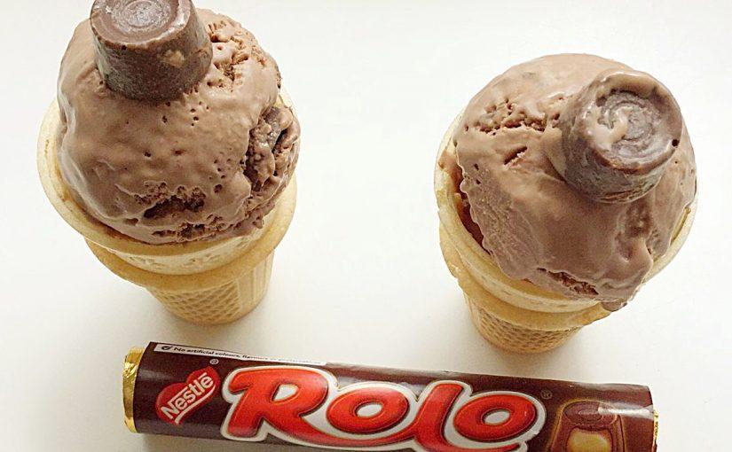 Chocolate Rolo Ice Cream