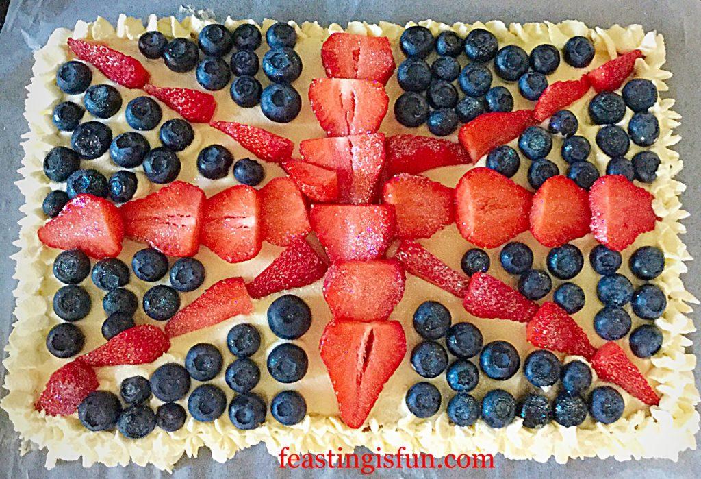 FF Union Jack Sponge Cake