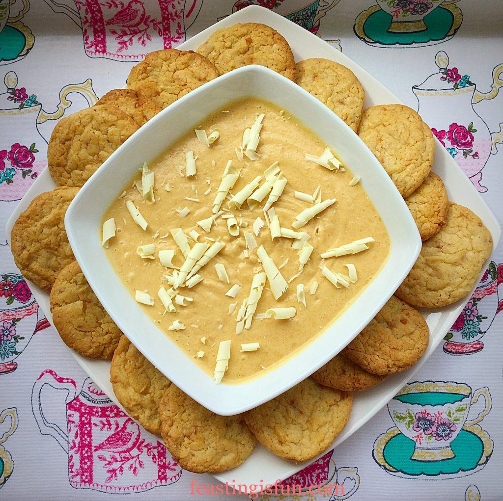 FF Easy Butterscotch Dip With Toffee Cookies