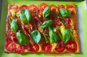 FF Cheddar Tomato Basil Quiche