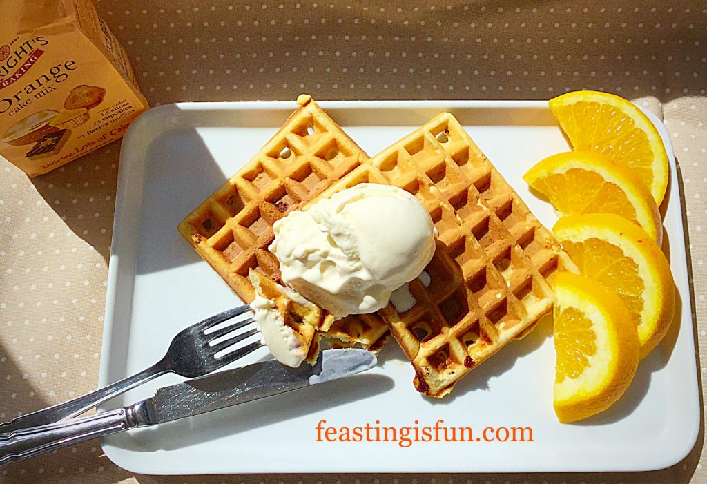 FF Fruity Orange Waffles