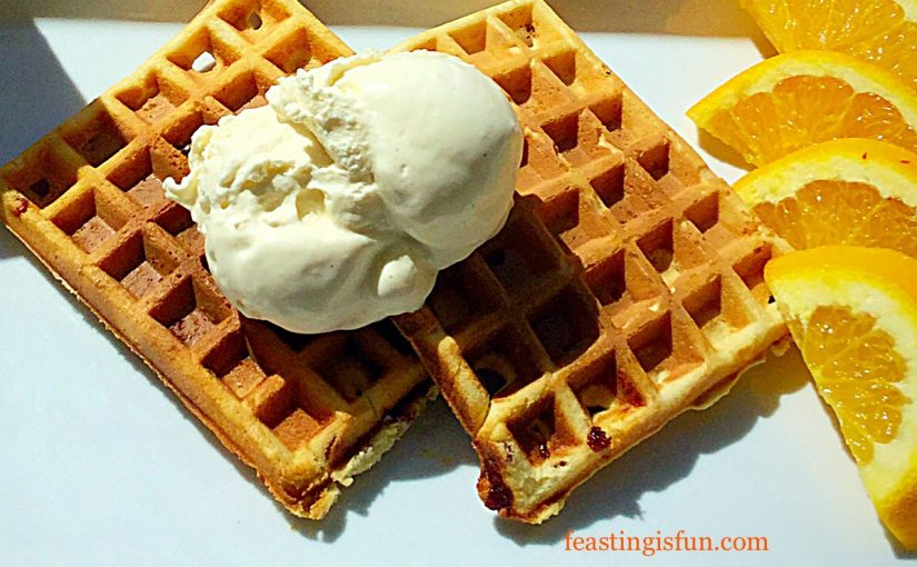 Fruity Orange Waffles