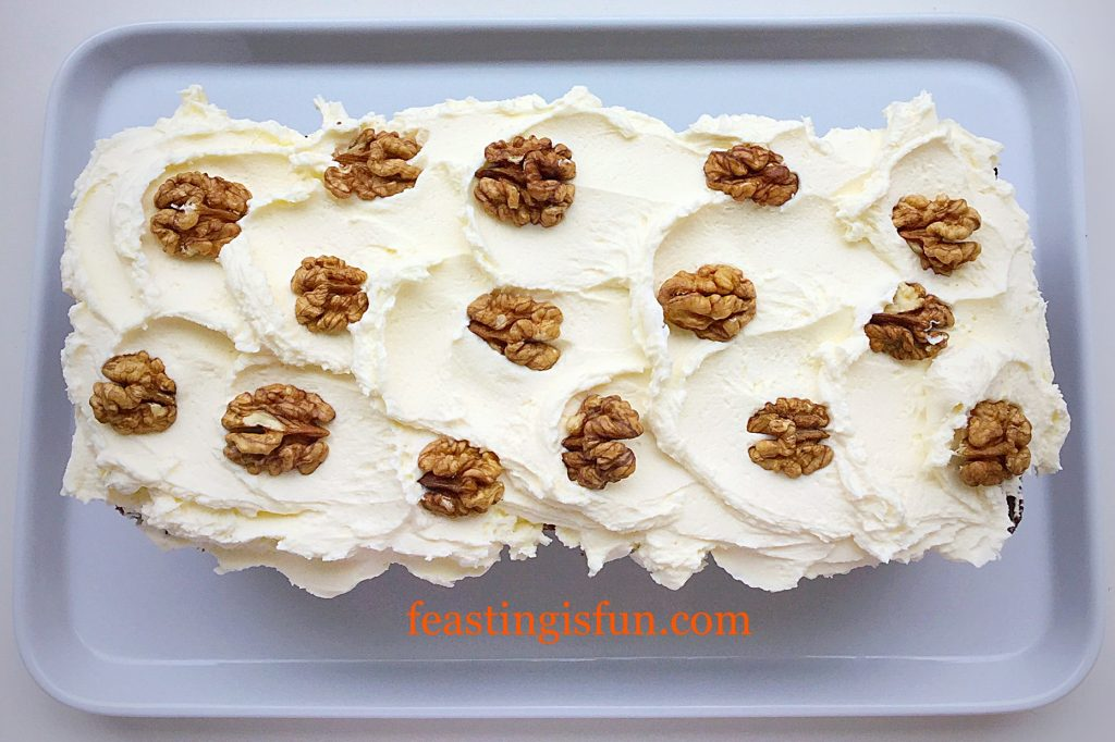FF Mascarpone Topped Carrot Cake