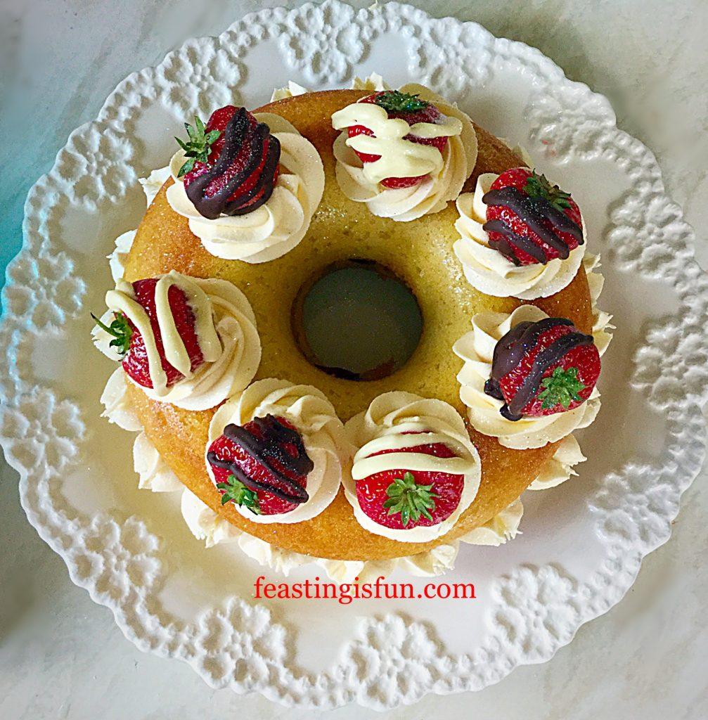 FF Strawberry Whipped Cream Giant Doughnut