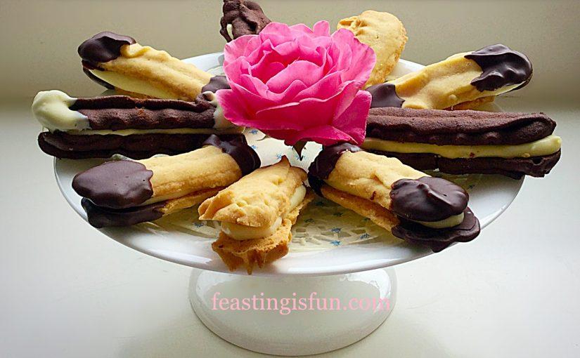 Chocolate Vanilla Viennese Finger Biscuits