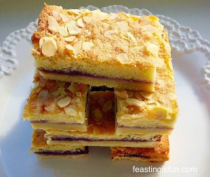 Bakewell Shortbread Bars