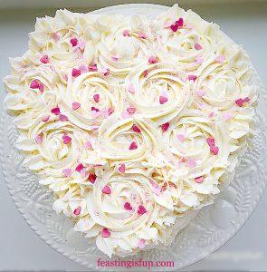 FF Orange Lemon Ombre Piped Rose Cake