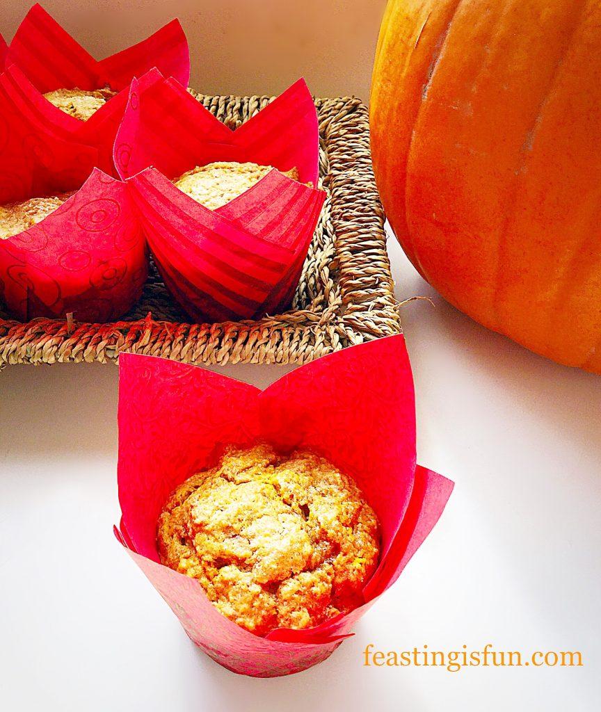 Autumnal bake with large orange squash.