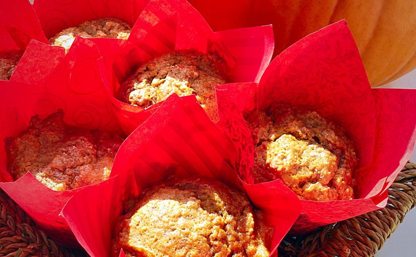 Spiced Pumpkin Walnut Muffins