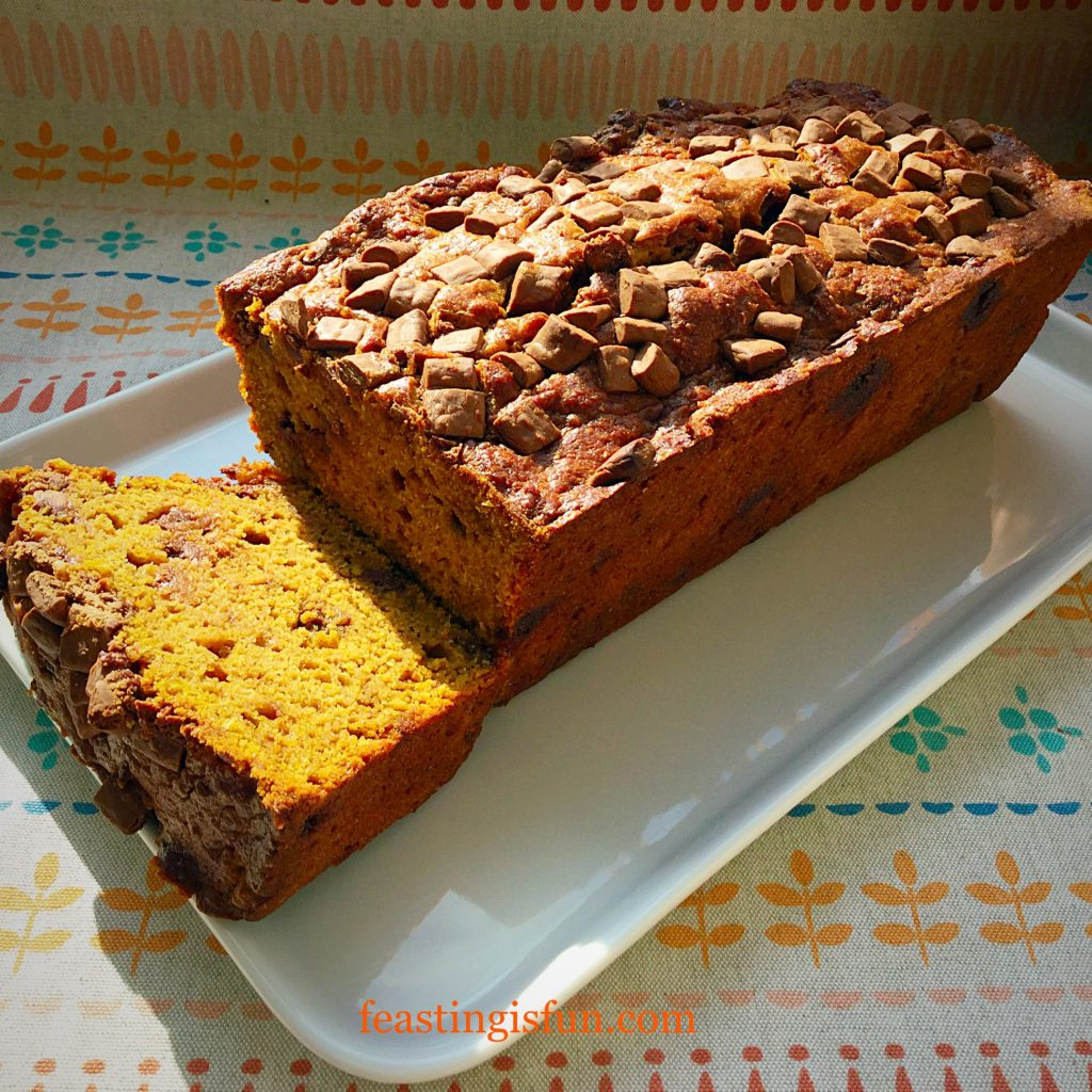 FF Chocolate Chip Pumpkin Loaf Cake