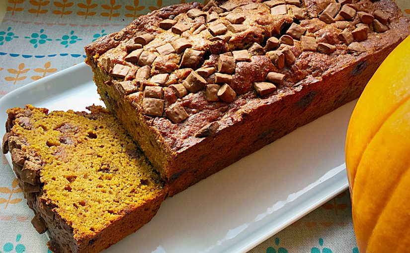 Chocolate Chip Pumpkin Loaf Cake