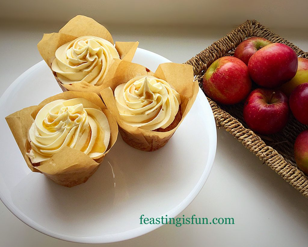 FF Maple Syrup Frosted Apple Cupcakes