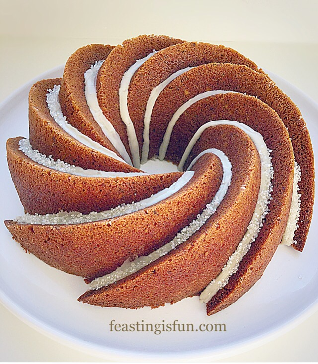 FF Cake baked in Heritage Bundt Pan