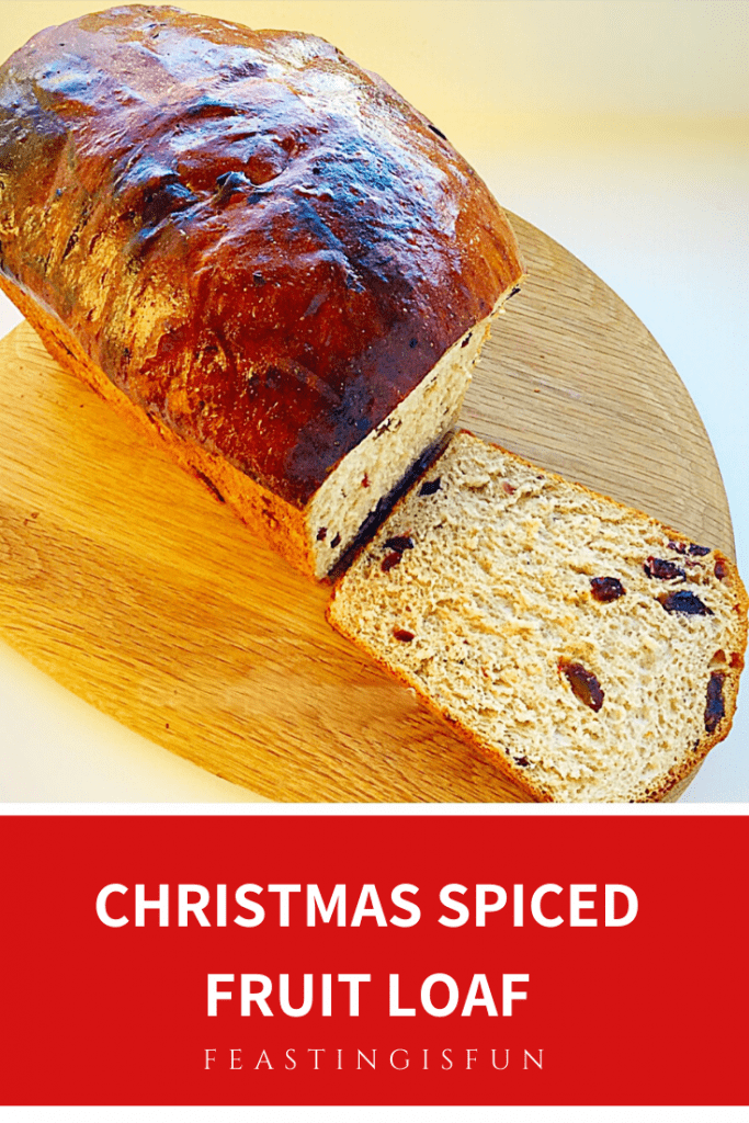 Enriched festive bread filled with dried vine fruits and Christmas spices.