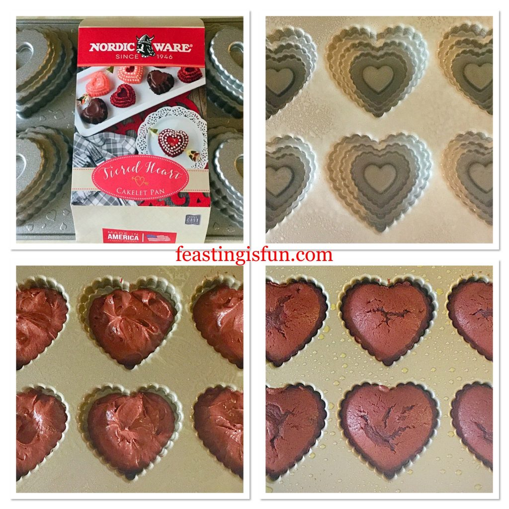 FF Red Velvet Mini Tiered Heart Cakes