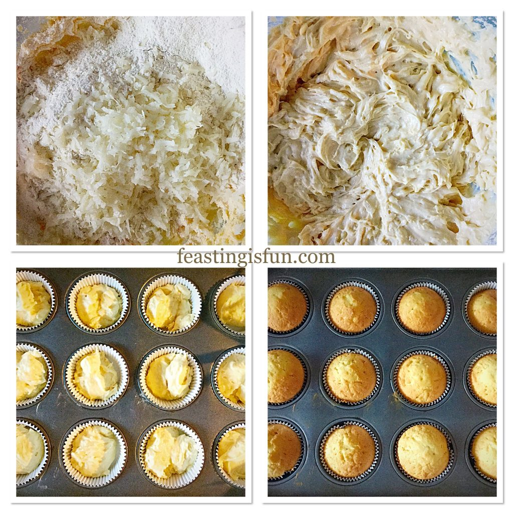 FF Coconut White Chocolate Snowball Cupcakes