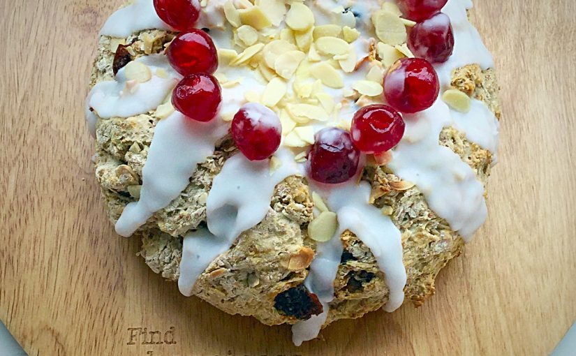 Cherry Bakewell Soda Bread