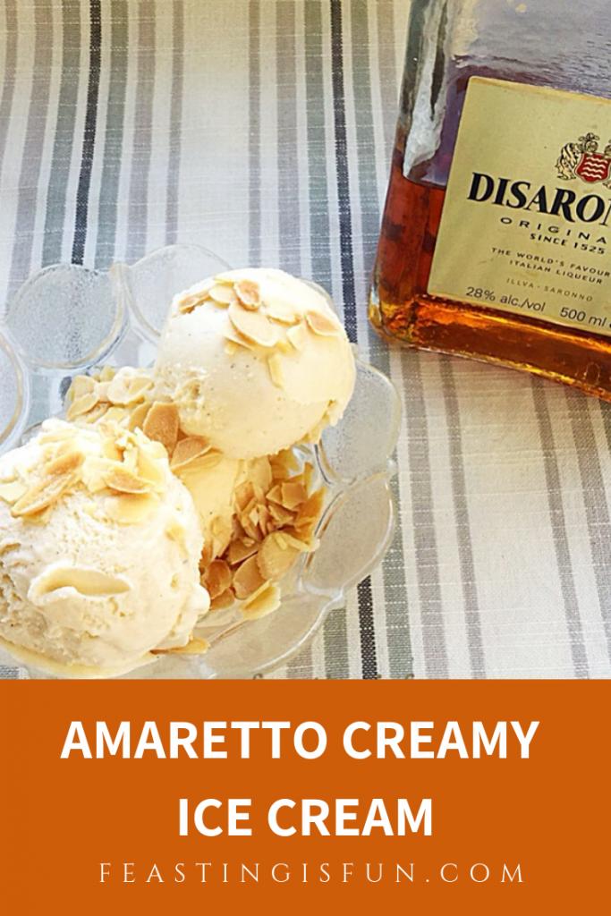 FF Amaretto Creamy Ice Cream