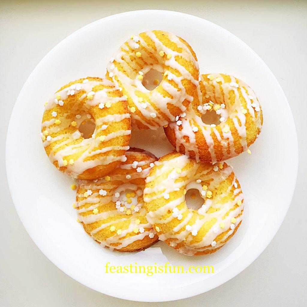 Baked Lemon Drizzle Doughnuts