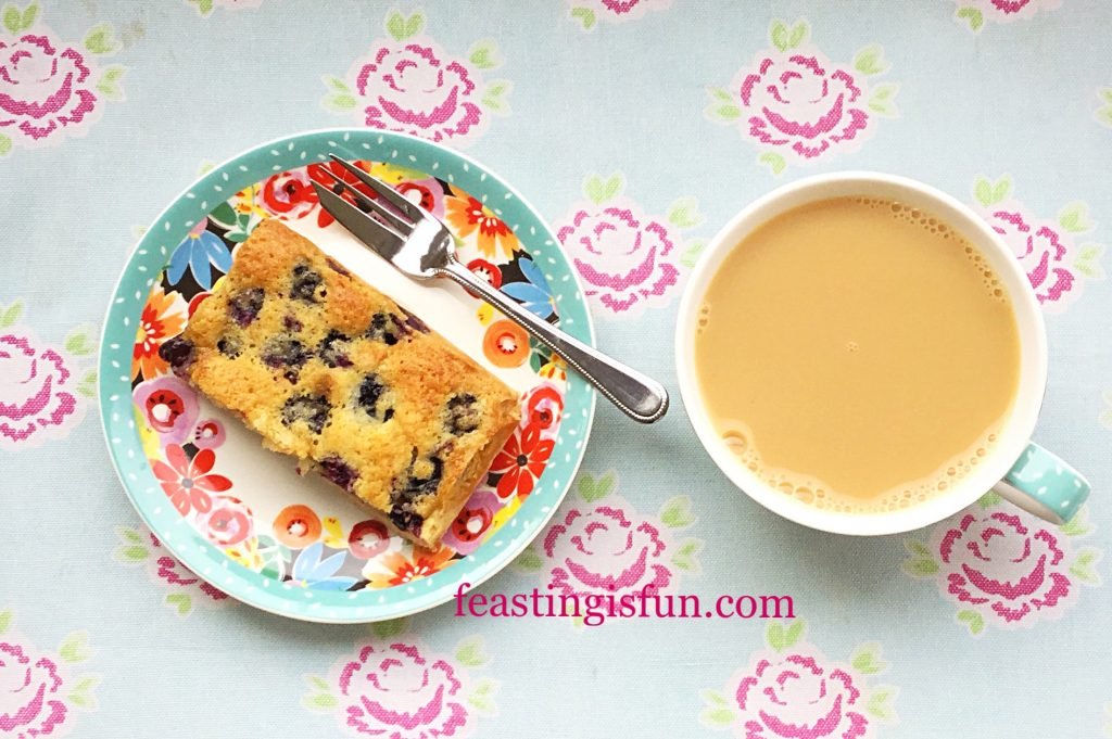 FF Blueberry Lemon Shortbread Cake Bars