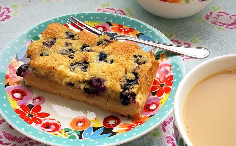 Blueberry Lemon Shortbread Cake Bars