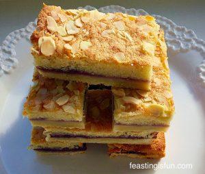 FF Blueberry Lemon Shortbread Cake Bars