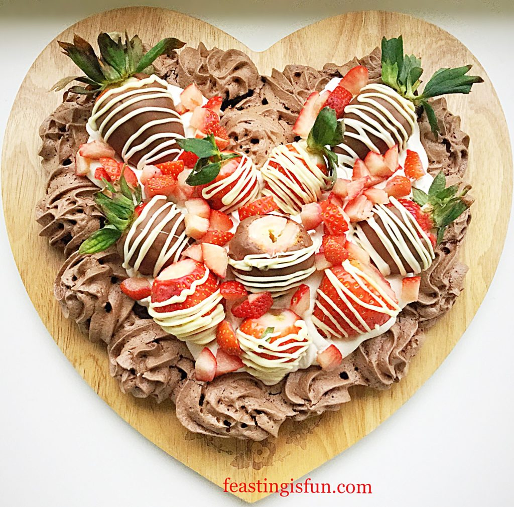FF Chocolate Heart Pavlova