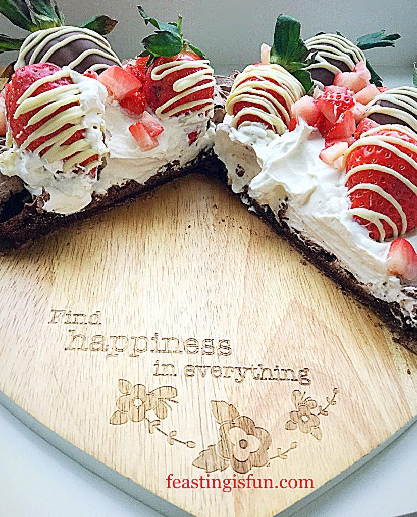 FF Strawberry Topped Chocolate Heart Pavlova