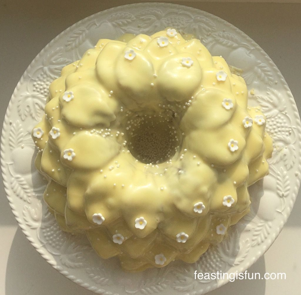Rose Bundt Cake Images : Chocolate Heart Topped Rose Bundt Cake - Feasting Is Fun