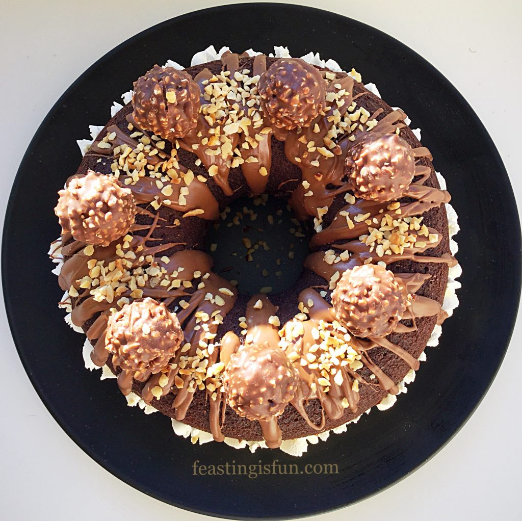 FF Chocolate Hazelnut Baked Giant Doughnut