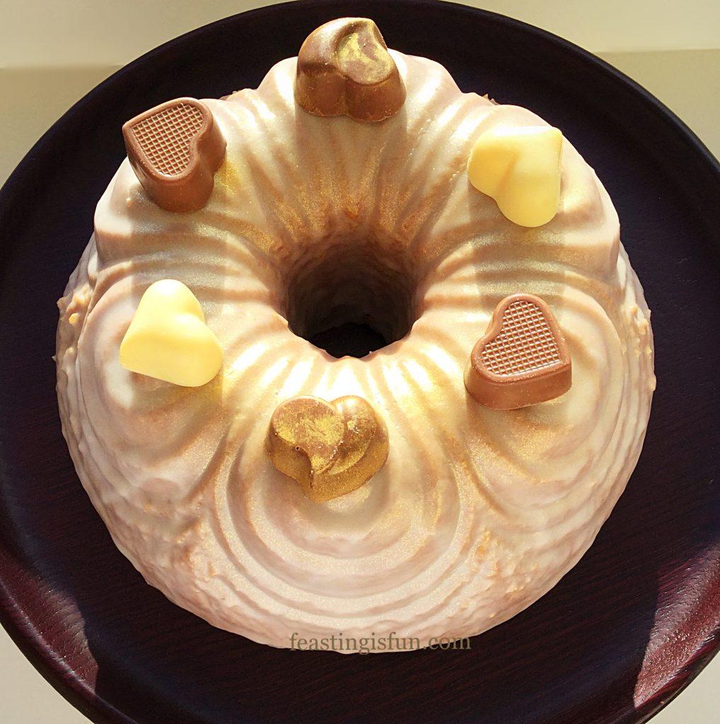 FF Chocolate Heart Rose Bundt Cake