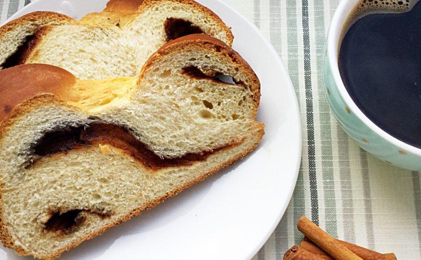 Cinnamon Plaited Brioche Bread