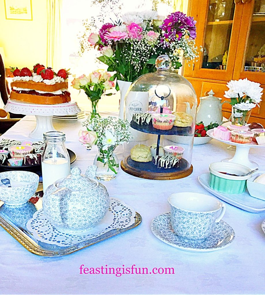 Afternoon Tea table laid out.