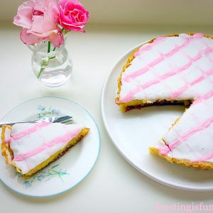 Iced Bakewell Cake