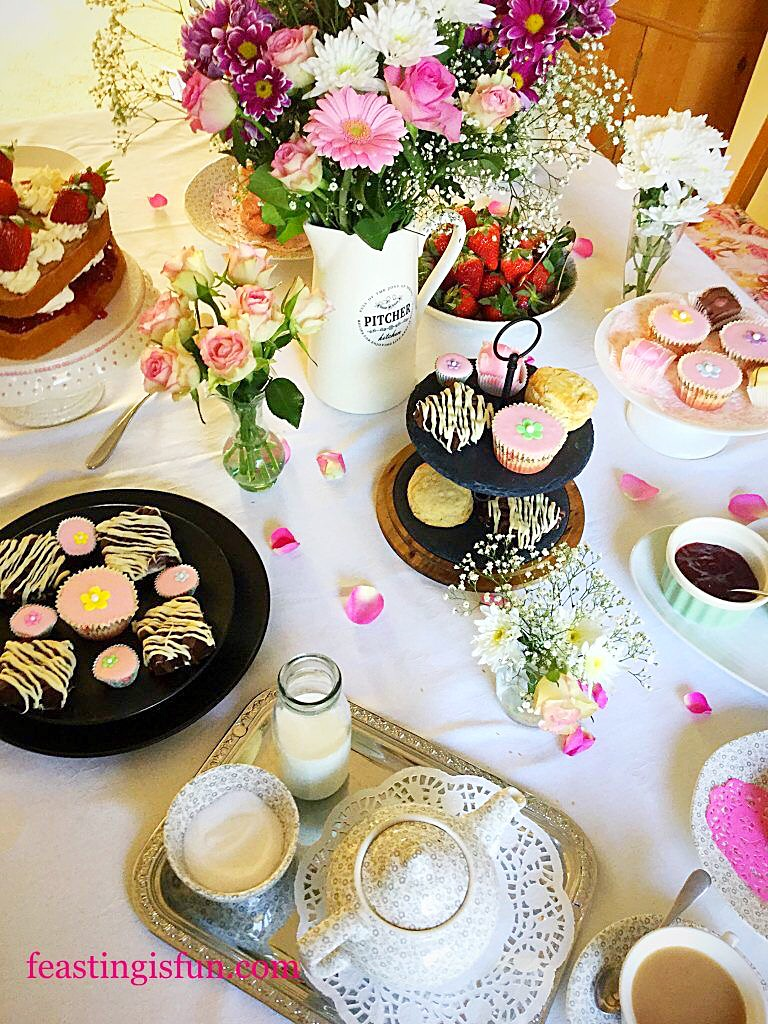 Afternoon Tea table set out.