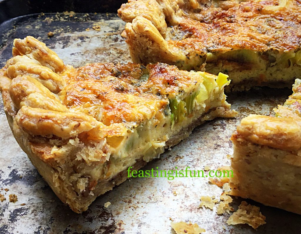 FF Walnut Pastry Crust Leek Stilton Tart