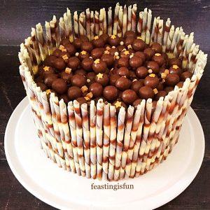 Chocolate Marble Celebration Cake