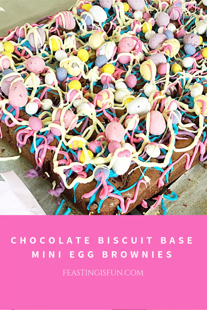 FF Chocolate Biscuit Base Mini Egg Brownies