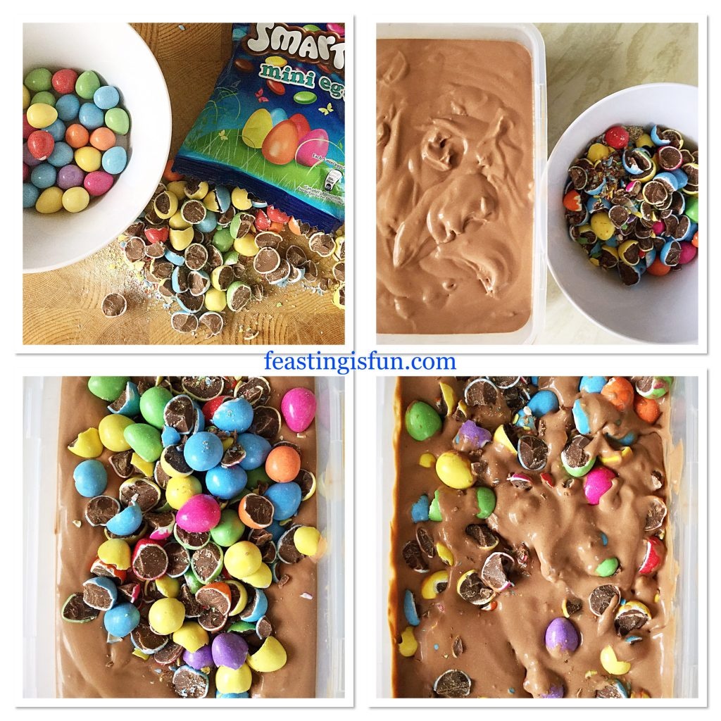 FF Smarties Chocolate Mini Egg Ice Cream