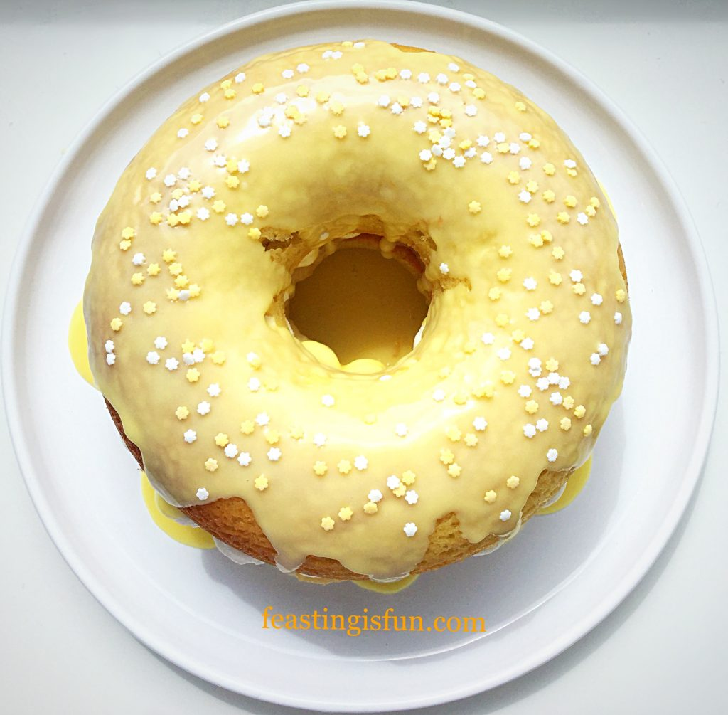 FF Lemon Drizzle Whipped Cream Filled Giant Doughnut
