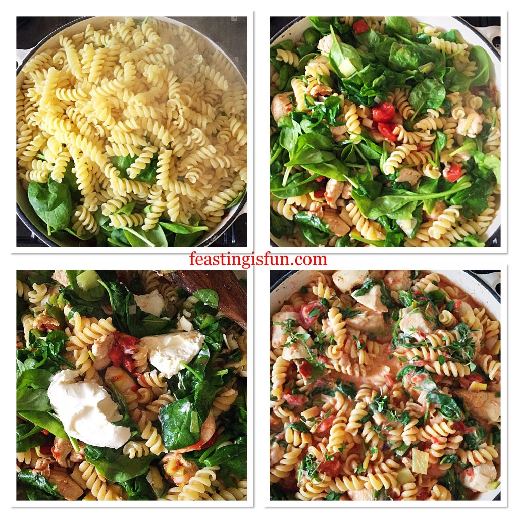 FF Creamy Tomato Spinach Chicken Pasta