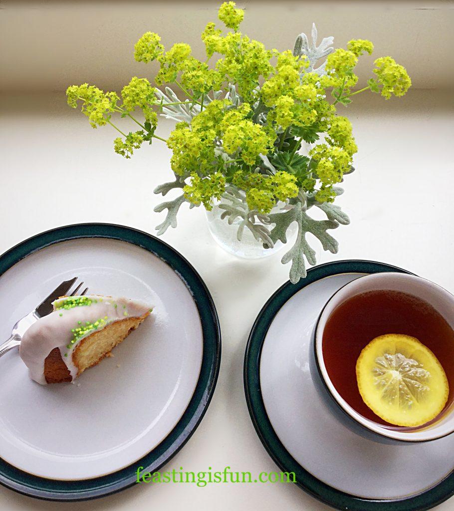 FF Lemon Lime Gin Heart Bundt Cake