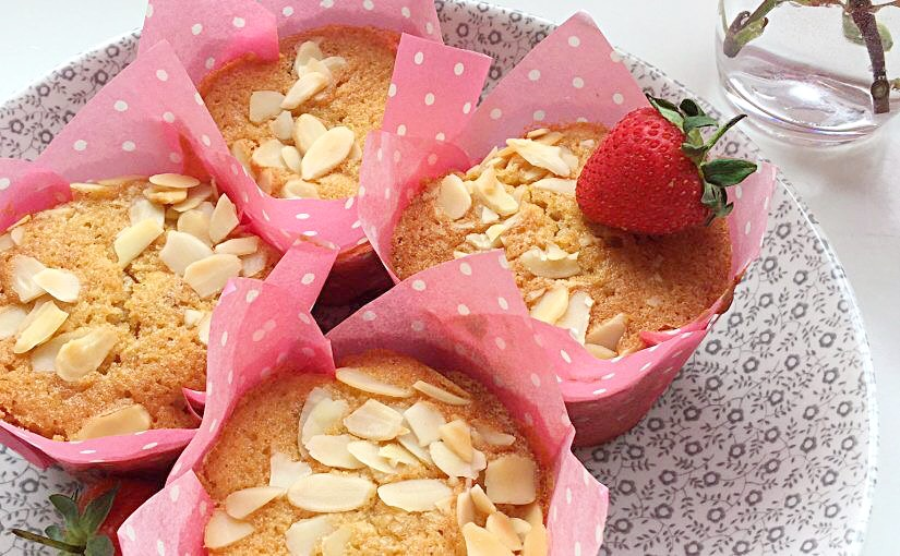 Double Strawberry Almond Muffins