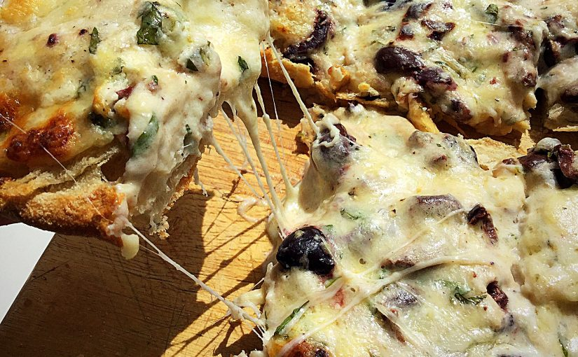 Baked Cheese Olive Ciabatta Bread