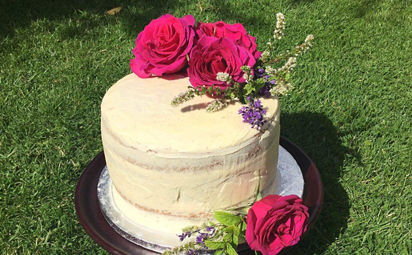 Raspberry Vanilla Naked Celebration Cake