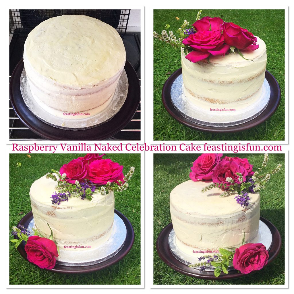 FF Raspberry Vanilla Naked Celebration Cake