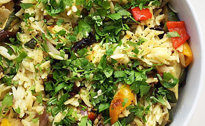 Roasted Summer Vegetable Orzo Salad